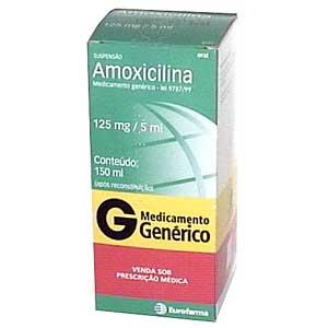 Amoxicilina 125 Mg/5ml Suspensão 150 Ml