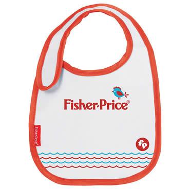 Babador Decorado Vermelho Fisher-Price Com Velcro