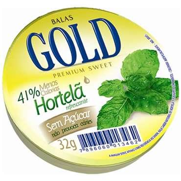 Bala Gold Hortelã 32g