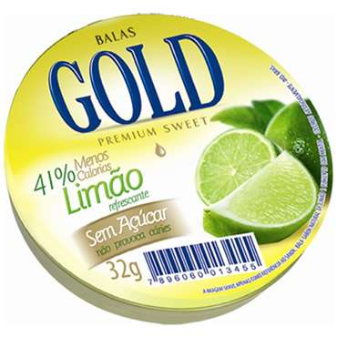 Bala Gold Limão 32g