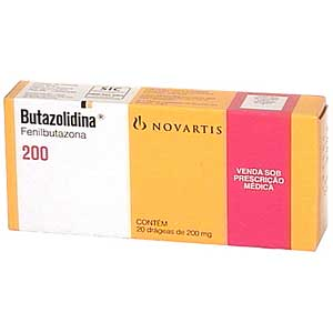 Butazolidina 200 Mg 20 Drags
