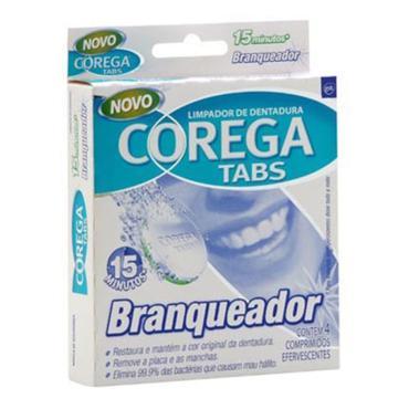 Corega Tabs Branq 4cpr