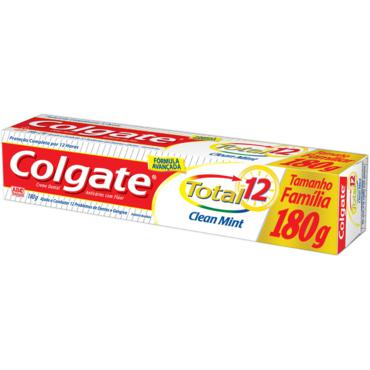 Creme Dental Colgate Total 12 Clean 180g