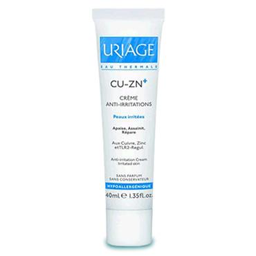 Cu-Zn + Uriage Creme Suavizante Repar 40ml