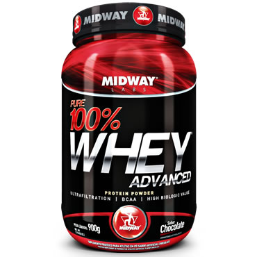 Pure 100 Whey Adva Po Chocolate 900g