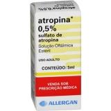 Atropina 0,5% Solução Oftálmica 5 Ml