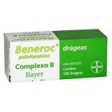 Beneroc Complexo B Bayer - 100 Drageas
