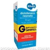Diclofenaco Resinato 15 Mg/Ml Fr X 20 Ml Gts