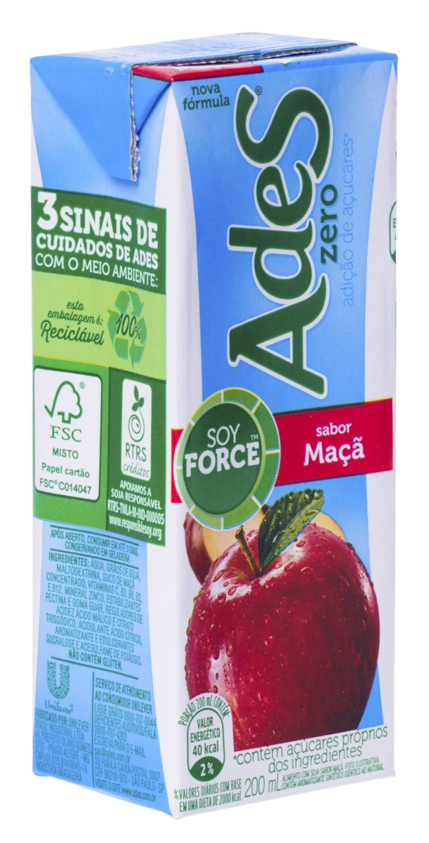 Ades Suco De Soja Light Maca 200 Ml