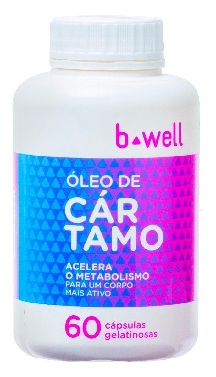 B-Well Oleo De Cartamo Com 60 Capsulas