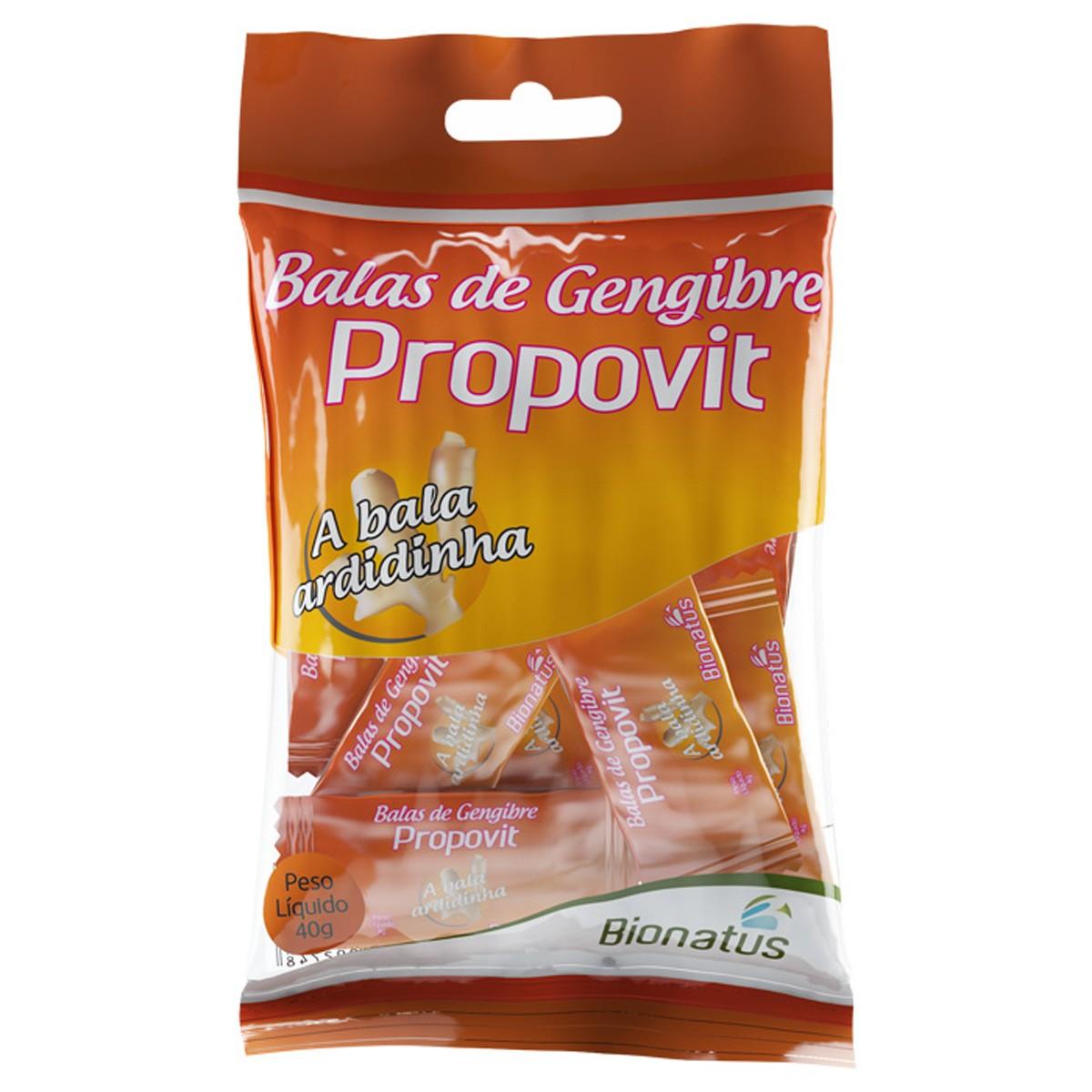 Bionatus Bala De Gengibre E Essencia De Limao Com 40 Gramas