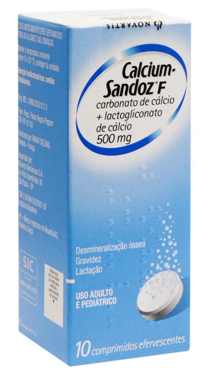 Calcium Sandoz F 500 Mg Efervescente 10 Cprs