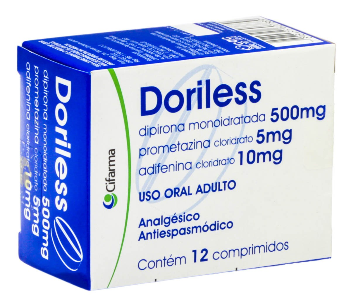 Doriless 500 + 10 + 5 Mg 12 Cprs