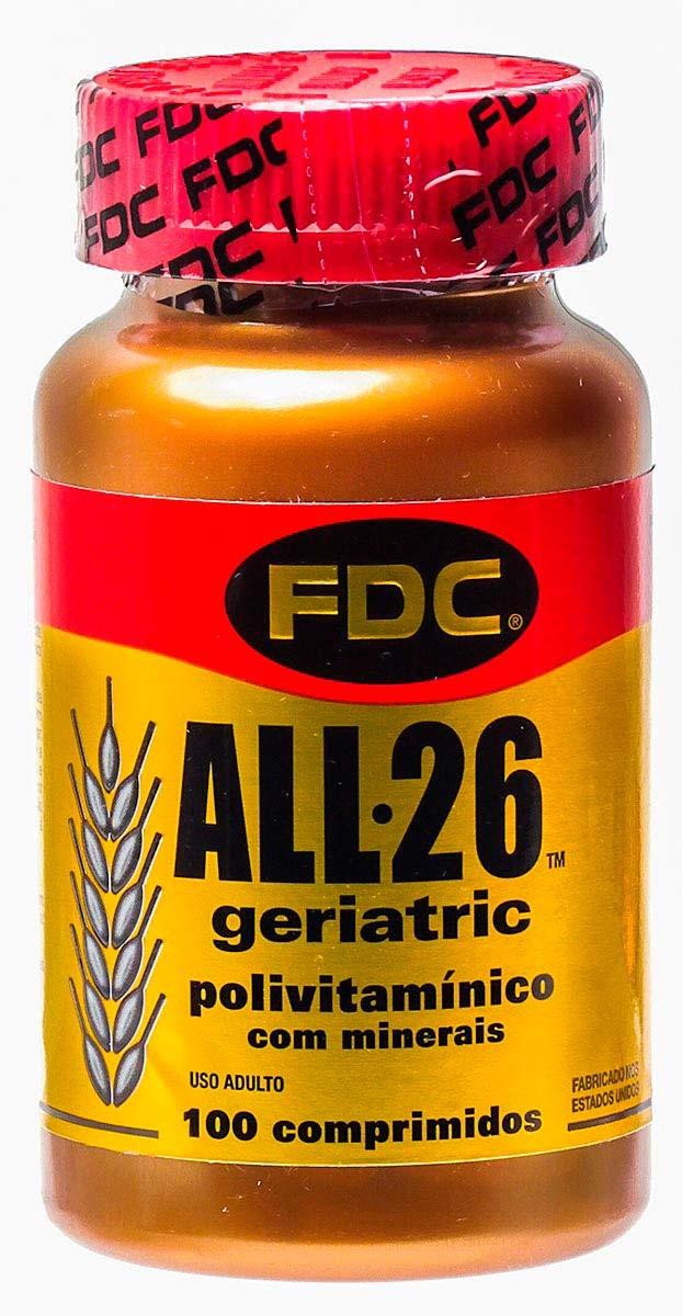 Fdc All 26 Geriatric Polivitaminico Com Minerais 100 Comprimidos