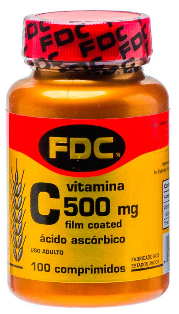 Fdc Vitamina C 500 Mg Film Coated 100 Comprimido