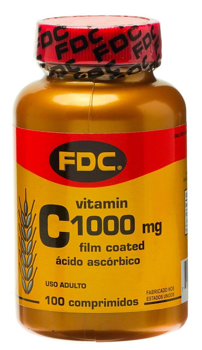 Fdc Vitaminas C Film Coated 1000mg Acido Ascorbico 100 Comprimidos