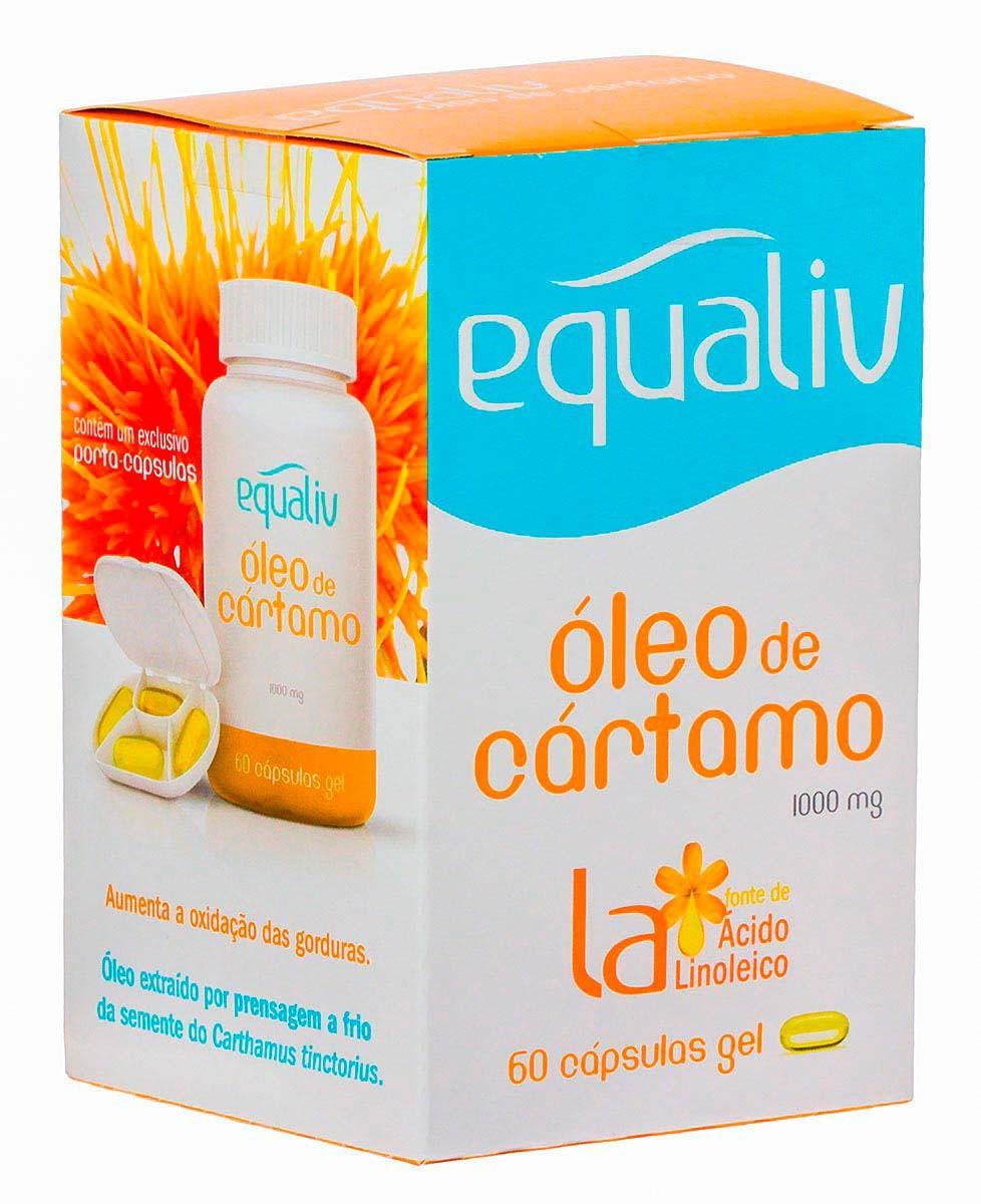 Óleo De Cártamo - Equaliv - 60 Cápsulas G