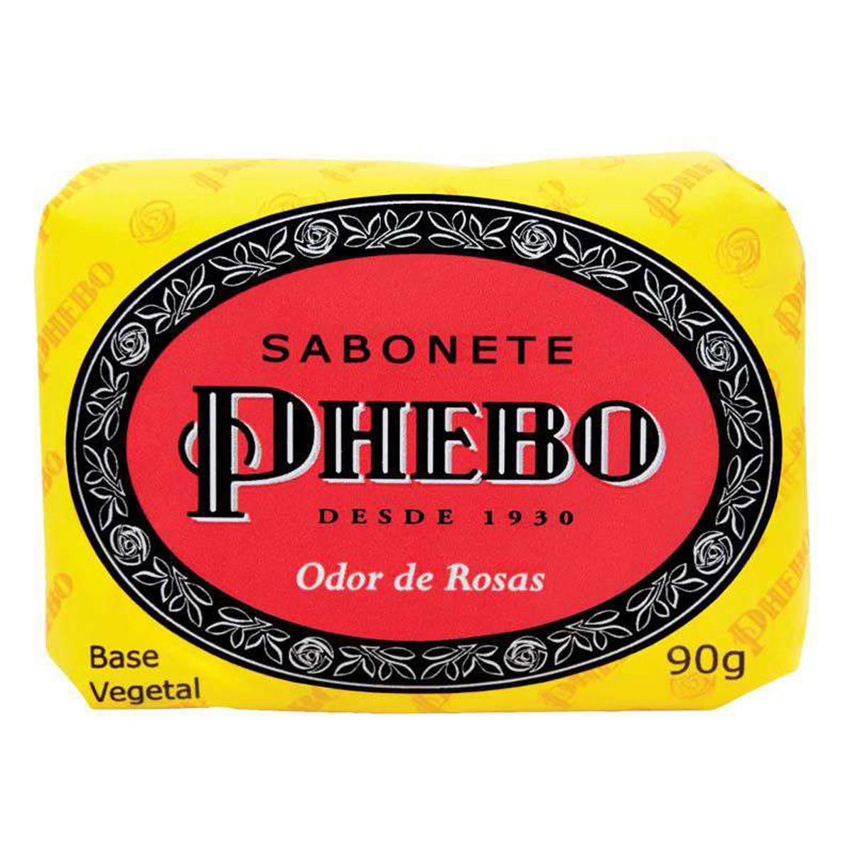 Phebo Sabonete Glicerina Odor De Rosas 90 G