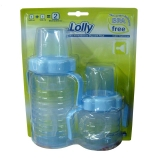 Kit De Mamadeira Lolly Baby Clean Lilás