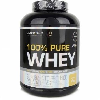 100% Pure Whey , Baunilha - Probiótica - 2268g