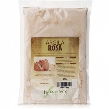 Argila Rosa - Força Da Terra - Pó 250g