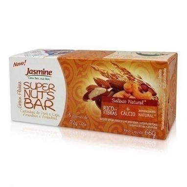 Barra De Cereal, Nuts - Jasmine - 3 Barras 22g