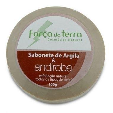 Sabonete De Argila E Andiroba - Força Da Terra - Barra 100g