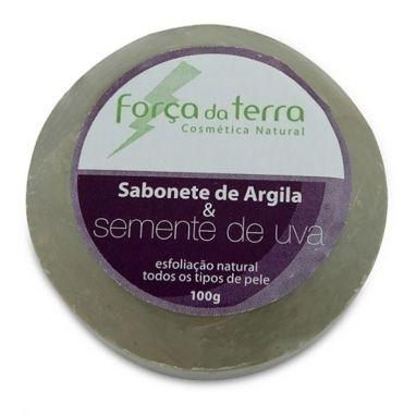 Sabonete De Argila E Semente De Uva - Força Da Terra - Barra 100g