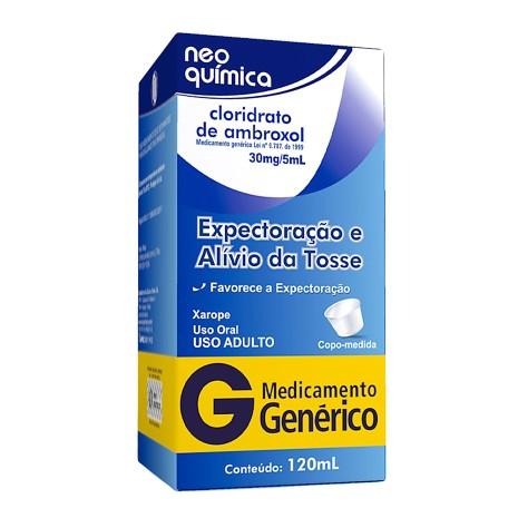 Cloridrato De Ambroxol Adulto 6 Mg Xarope 120 Ml