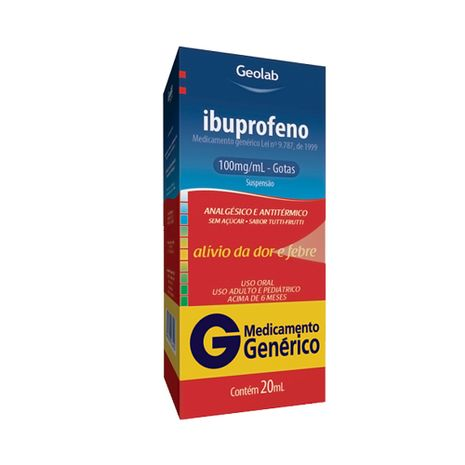 Ibuprofeno 100mg/Ml Susp Oral Gts Fr X 20ml
