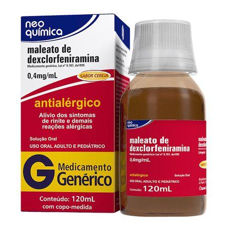 Mal Dexclorfeniramina 2 Mg Xarope 120 Ml