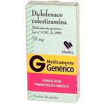 Diclofenaco De Colestiramina 70 Mg 14 Caps