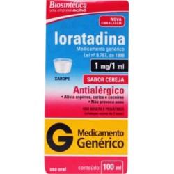 Loratadina 1 Mg/Ml Xarope 100 Ml