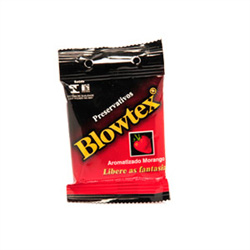 Preservativo Blowtex Arom Morango 3 Unidades