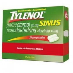 Tylenol Sinus 500 + 30 Mg 24 Cprs