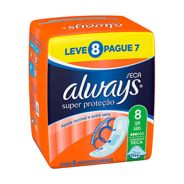 Absorvente Always Basico S / Ab Seca L8p7