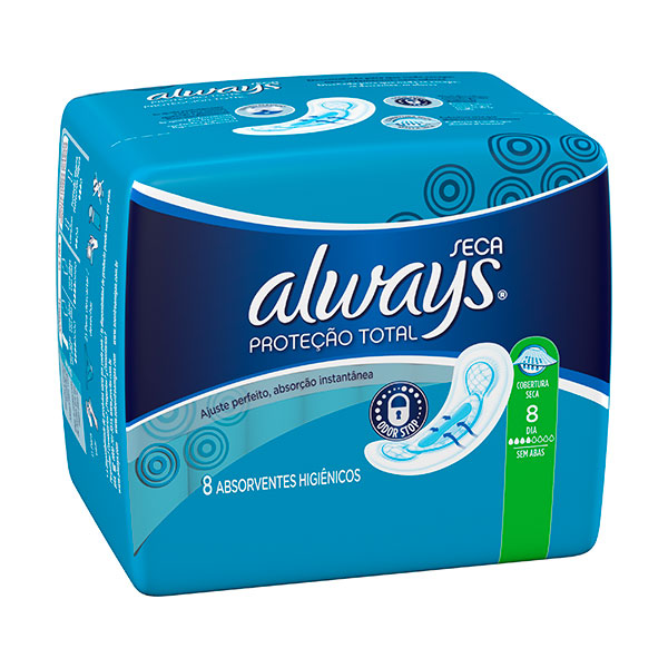 Absorvente Always Normal S / Ab Seca 8 Unidades
