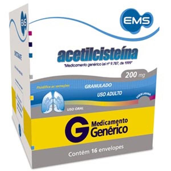 Acetilcisteina 200 Mg C/16 Env X 5 Gr