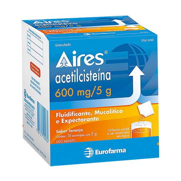 Acetilcisteina 600 Mg 16 Saches X 5 G