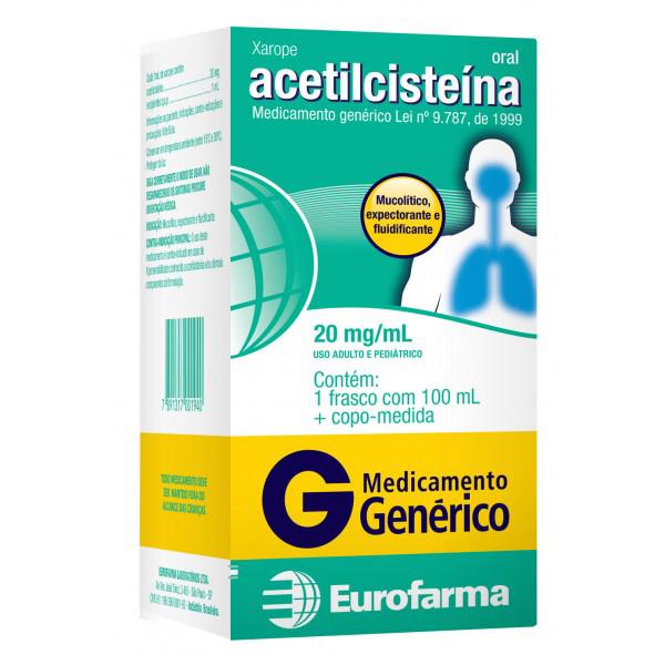 Acetilcisteina Infantil 20 Mg Xarope 100 Ml