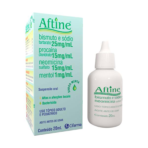 Aftine 15 + 25 + 1 + 15 Mg Suspensão Oral 20 Ml