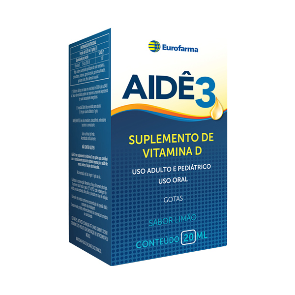 Aide 3 Vit D 200 Ui Gts X 20 Ml