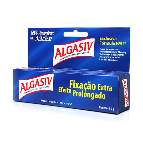 Algasiv Fixador Para Dentaduras Creme 30 G