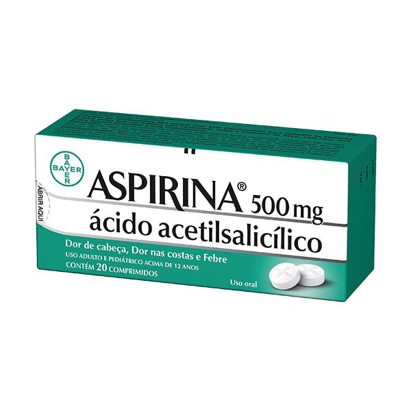 Aspirina 500 Mg Adulto 20 Cprs