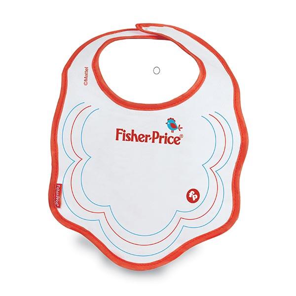 Babador Decorado Vermelho Fisher-Price Com Botão