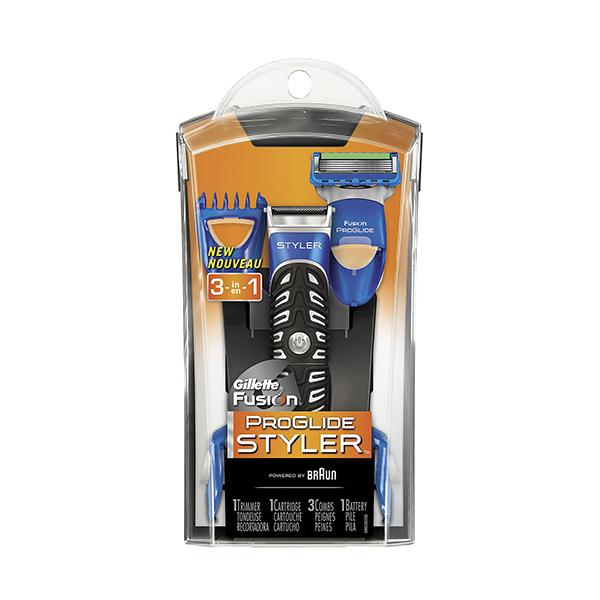 Gillette Proglide Styler 1 Aparelho De Barbear + 1 Cartucho + 3 Pentes + Pilha