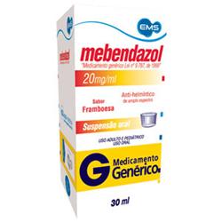 Mebendazol 20 Mg Sus C/30 Ml