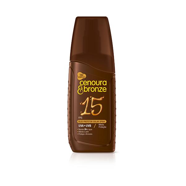 Óleo Protetor Solar Cenoura E Bronze Fps 15 Spray