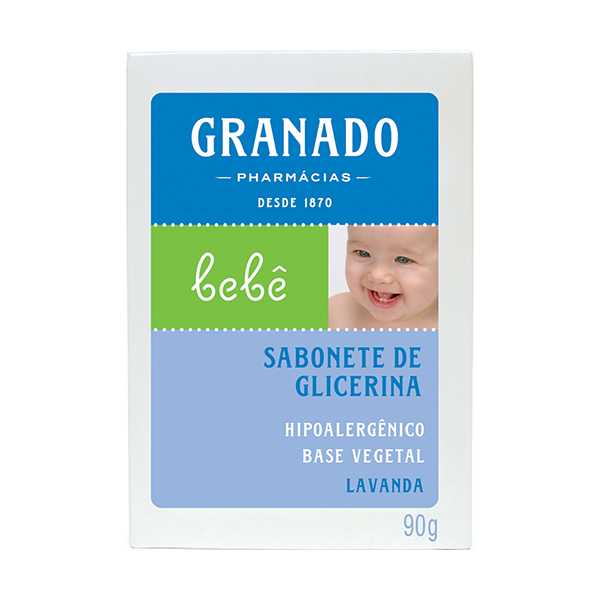 Sabonete Granado Bebe Glicerina Lavanda 90g