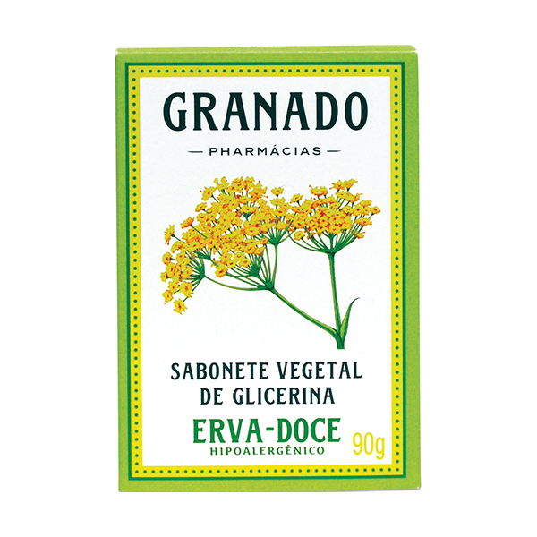 Sabonete Granado Glicerina Erva Doce 90g